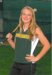 Katie Baker, Kevin's oldest daughter and high school fastpitch softball pitcher
