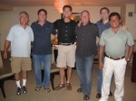 Luis Mora, Mike Kollin, Rob Meadows, Kevin McClure, Ross Biddle & Larry Campa at the Friday night pre-party.