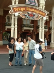 Wife Elizabeth, Daughter Camille, Daughter Samantha & Ron Garcia at Tokyo Disneyland