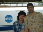 Ron and Elizabeth Garcia - Japan Bullet Train - Osaka
